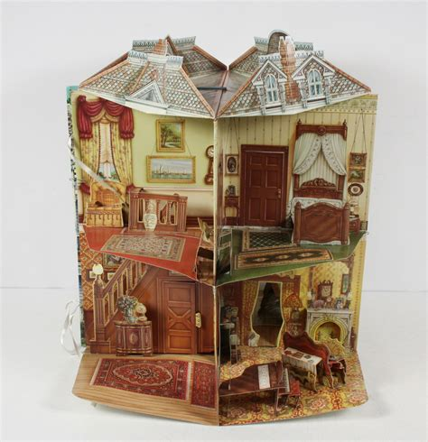 pop up doll house three dimensional victorian doll house pop up 3d book ebay