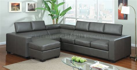 Gray Leather Sectional by Cm6365gy Serres Sectional Sofa In Gray Bonded Leather Match
