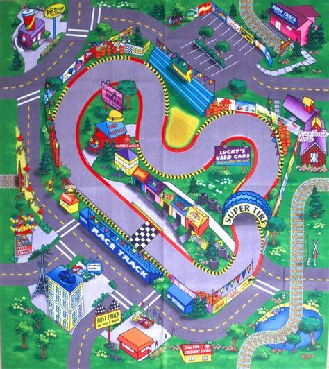 race track play rug race track floor play mat children themed felt mat room racing car ebay
