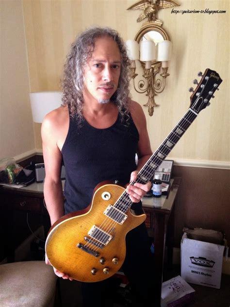 kirk hammett les paul custom guitarism greeny in the hands of kirk hammett