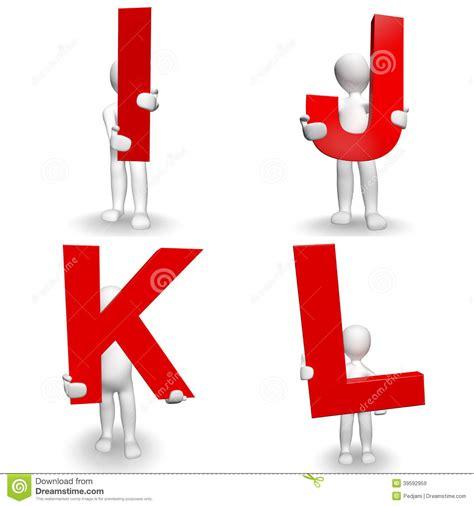 Character Holding Letter 3d human character holding letter i j k l stock