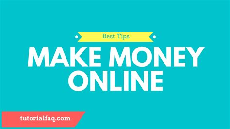Money Making Tips Online - 5 essential tips for making a lot of money online