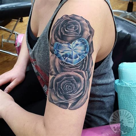 diamond tattoo lancaster fatetattooer diamond rose tattoo