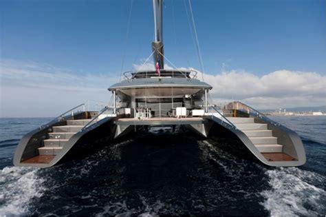 mega catamaran sailing yachts sailing yacht cartouche delivered a blue coast 95