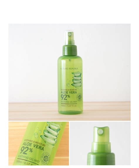Nature Republic Aloe Vera Soothing Spray nature republic soothing moisture aloe vera gel mist