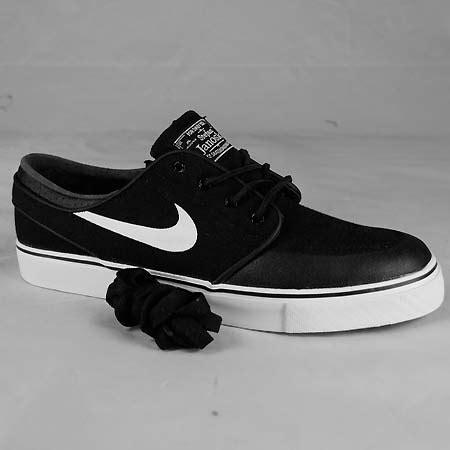 nike stefan janoski pr se shoes black canvas white gum