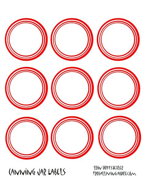 canning jar labels template free printable canning jar labels