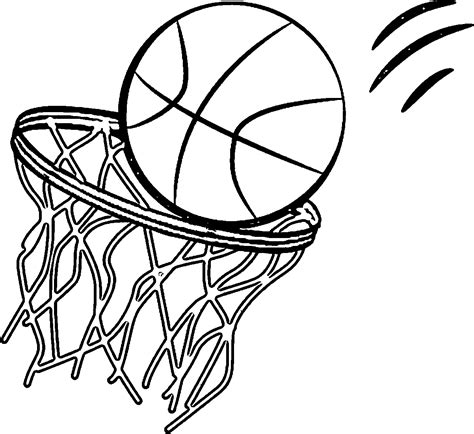 basketball net coloring pages basketball hoop clip art black and white sketch coloring page