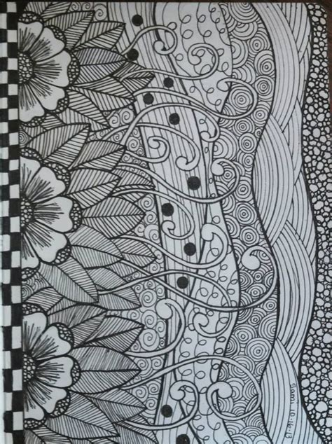 doodle zen simple and lovely patterns simple zentangle zen