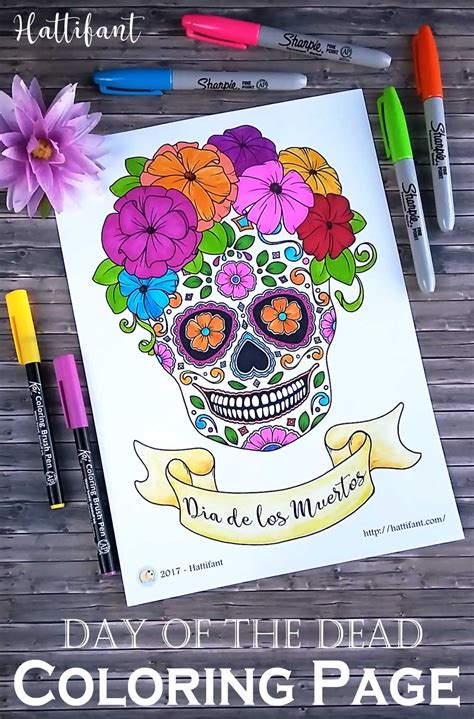 day of the dead skull coloring pages day of the dead sugar skull coloring page hattifant