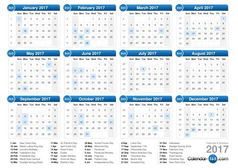 Calendario 2012 Usa 2017 Calendar With Weekly Calendar Template