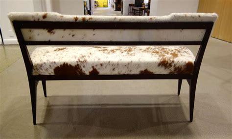 cowhide bench modern mid century modern italian cowhide upholstered settee or