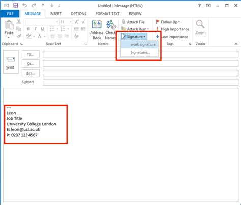 Add Calendar To Outlook 2013 Add A Signature In Outlook 2013