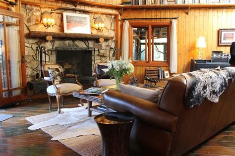 adirondack style lodge rustic living room by