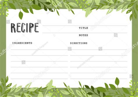 restaurant recipe card template 14 restaurant recipe card templates designs psd ai