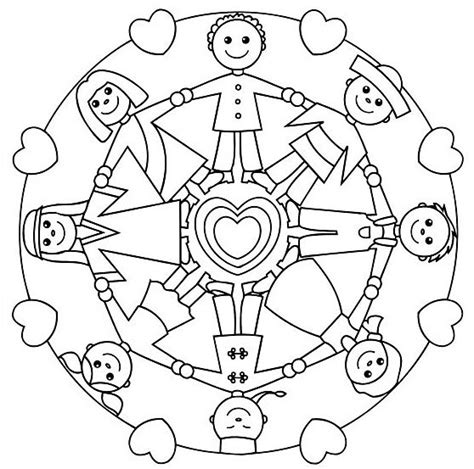 earth mandalas coloring pages holding hands mandala for kids http glad is article