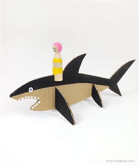 card board shark template cardboard sharks sharks birthday