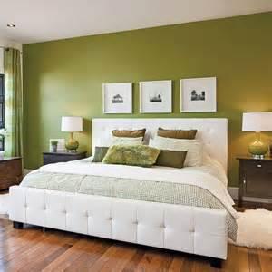 chambre en vert et blanc chambre inspirations