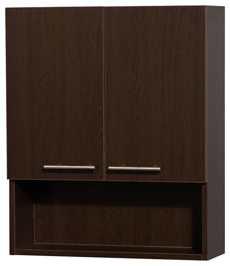 modern bathroom wall cabinets amare bathroom wall mounted storage cabinet in espresso