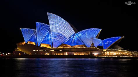 opera house sydney sydney opera house at night bighdwalls