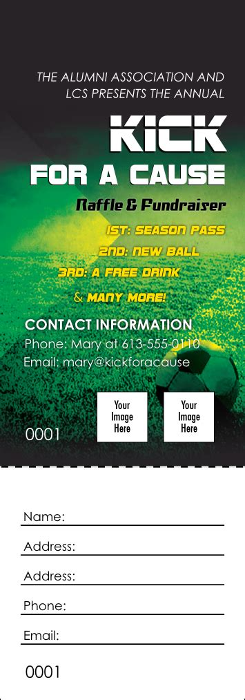 field ticket template soccer field raffle ticket