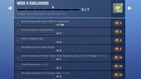 fortnite week 4 challenges fortnite season 3 week 4 challenges revealed mp1st