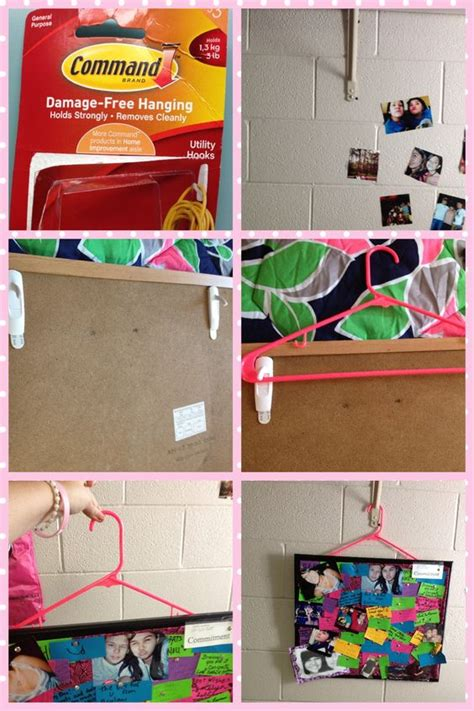 hang up pictures without putting holes wall another way to hang a bulletin board in your without