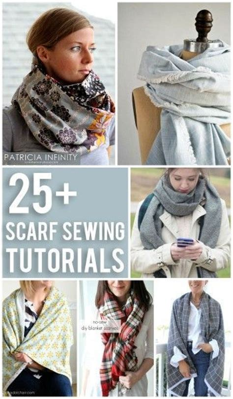 tutorial natalie scarf sewing patterns sewing and sewing tutorials on pinterest