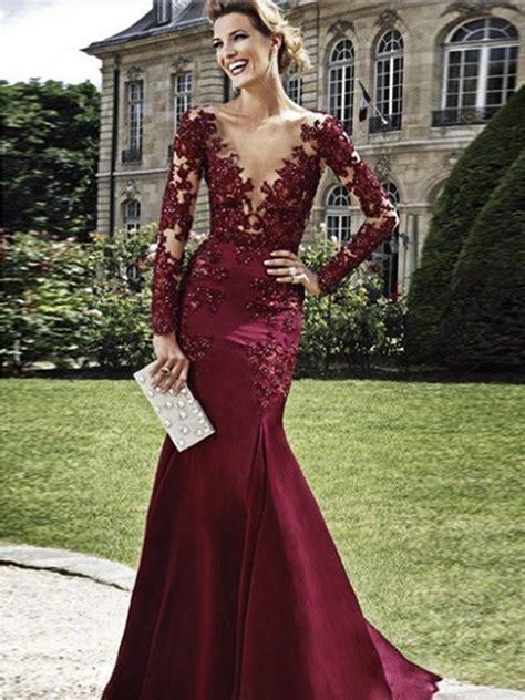 Burgundy Sheath V neck Floor length Elastic Prom Dress Evening Dress ? AmyProm