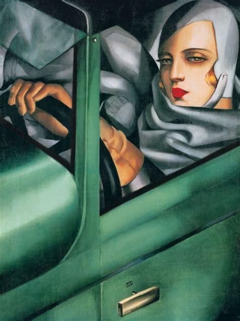 tamara de lempicka art self portrait in the green bugatti tamara de lempicka