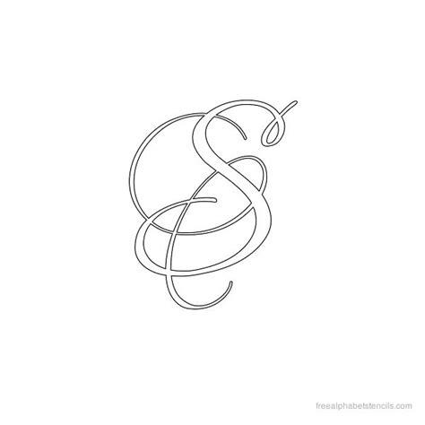 Alphabet Script K Cufflinks calligraphy alphabet stencil s letter s
