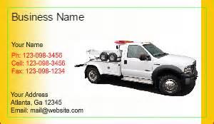tow truck business cards tow truck business cards designsnprint