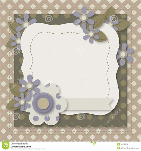 card picture frame template template of greeting card or album page stock vector