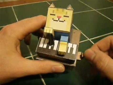 piano cat papercraft automata