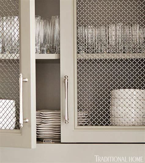 the mesh inserts in these cabinets mesh products
