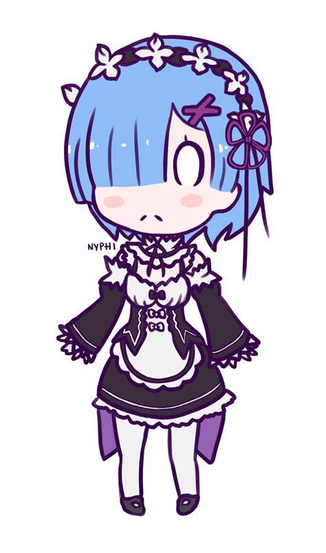 Kaos Rem Chibi Re Zero Hobiku Anime Store chibi rem by nyphi on deviantart