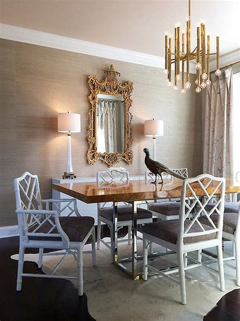 taupe dining room chairs white and taupe dining room with white bamboo dining