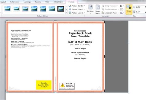 createspace templates word how to make a print book cover in microsoft word for