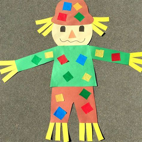 kindergarten pattern projects giant scarecrow craft project for preschool and