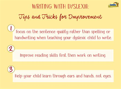 writing with dyslexia tips and tricks for improvement