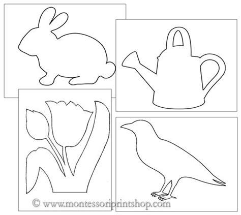 montessori printable templates pin poke spring shapes montessori practical life art