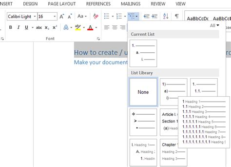 List Of Tables In Word by Tips And Tricks To Create A Table Of Contents In Word 2010