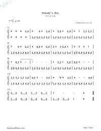 Nobody's Boy: Remi Theme Free Piano Sheet Music & Piano Chords