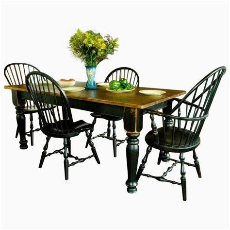 Farmhouse Dining Table And 6 Chairs Buy Made Pine Farmhouse Dining Table Six Chairs Made To Order From Carolina Farm Table