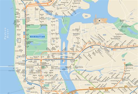 mta subway map the real mta map shows only the subway lines that are
