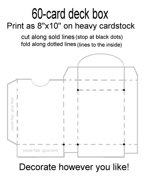 deck of card packaging template 60 card deck box template for magic yu gi oh