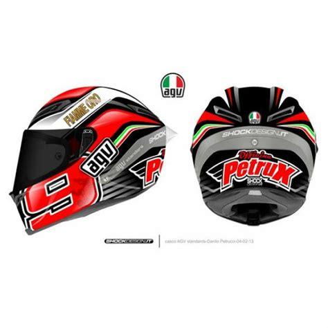 Helm Agv Racing Racing Helmets Garage Agv Pistagp D Petrucci 2013 By Shock Design