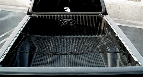 truck bed rail system cargo nets