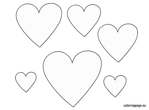 hearts template hearts templates free coloring page