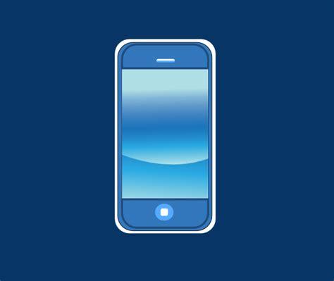 blue iphone  box clip art  clkercom vector clip art